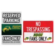 North Dakota State Bison Metal Sign Set