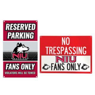 Northern Illinois Huskies Metal Sign Set