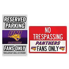 Northern Iowa Panthers Metal Sign Set