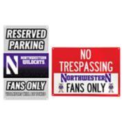 Northwestern Wildcats Metal Sign Set