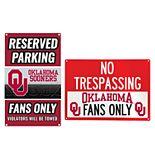 Oklahoma Sooners Metal Sign Set