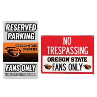 Oregon State Beavers Metal Sign Set