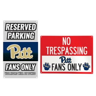 Pitt Panthers Metal Sign Set