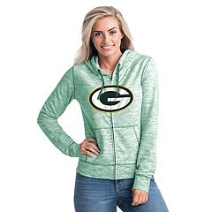 Women's New Era Green Bay Packers Space-Dye Hoodie