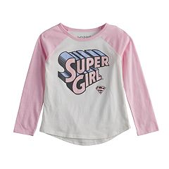 Toddler Girl Jumping Beans® Glittery Supergirl Graphic Long-Sleeve Tee