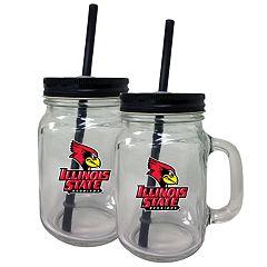 Illinois State Redbirds Mason Jar Set