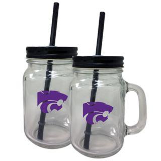Kansas State Wildcats Mason Jar Set