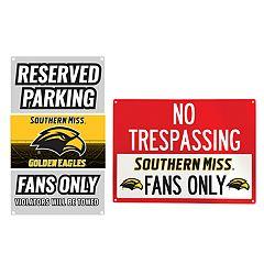 Southern Miss Golden Eagles Metal Sign Set