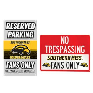 Southern Miss Golden Eagles Metal Sign Set