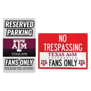 Texas A&M Aggies Metal Sign Set