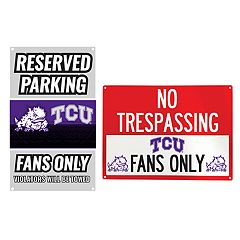 TCU Horned Frogs Metal Sign Set