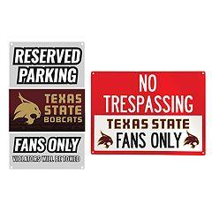 Texas State Bobcats Metal Sign Set