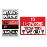 Texas Tech Red Raiders Metal Sign Set