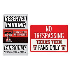 Texas Tech Red Raiders Metal Sign Set