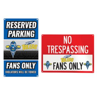 Toledo Rockets Metal Sign Set