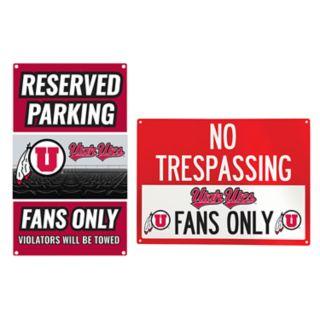 Utah Utes Metal Sign Set