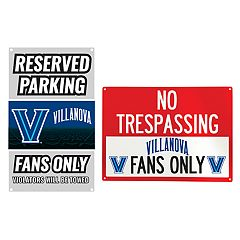 Villanova Wildcats Metal Sign Set