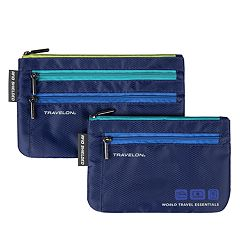 Travelon World Travel Essentials 2-Piece Currency & Passport Organizers