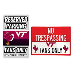 Virginia Tech Hokies Metal Sign Set