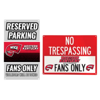 Western Kentucky Hilltoppers Metal Sign Set