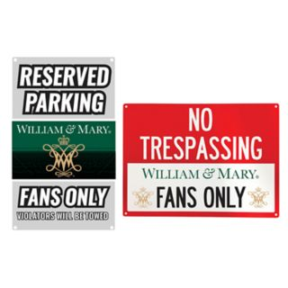 William & Mary Tribe Metal Sign Set
