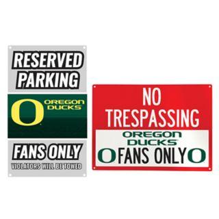 Oregon Ducks Metal Sign Set