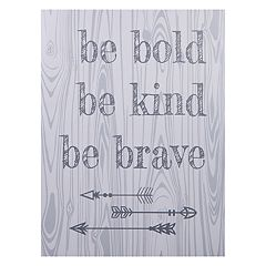 Trend Lab 'Be Bold, Be Kind, Be Brave' Canvas Wall Art