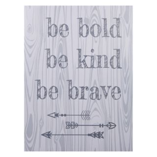 "Trend Lab ""Be Bold, Be Kind, Be Brave"" Canvas Wall Art"