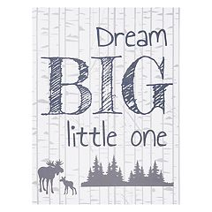 Trend Lab 'Dream Big Little One' Woodland Canvas Wall Art