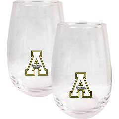 Appalachian State Mountaineers Stemless Wine Glass Set
