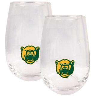 Baylor Bears Stemless Wine Glass Set
