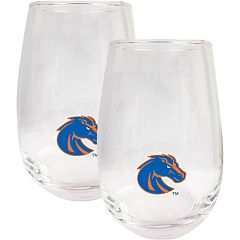 Boise State Broncos Stemless Wine Glass Set