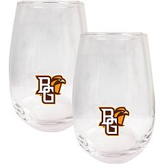 Bowling Green Falcons Stemless Wine Glass Set