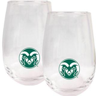 Colorado State Rams Stemless Wine Glass Set