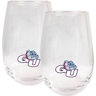 Gonzaga Bulldogs Stemless Wine Glass Set