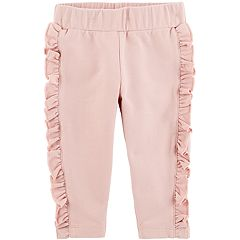 Baby Girl Carter's Ruffled French Terry Pants