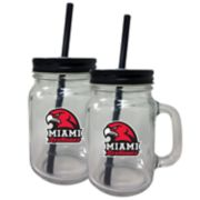 Miami RedHawks Mason Jar Set