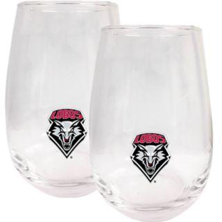 New Mexico Lobos Stemless Wine Glass Set