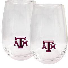 Texas A&M Aggies Stemless Wine Glass Set