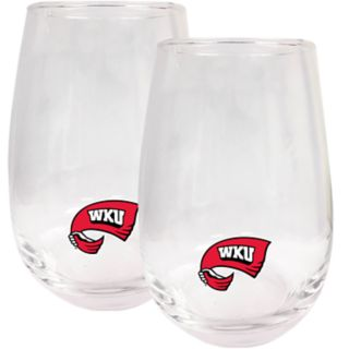 Western Kentucky Hilltoppers Stemless Wine Glass Set