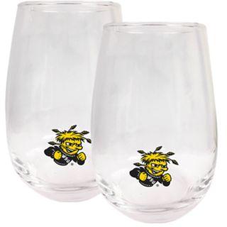 Wichita State Shockers Stemless Wine Glass Set