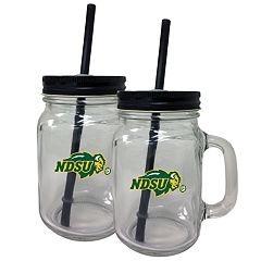 North Dakota State Bison Mason Jar Set