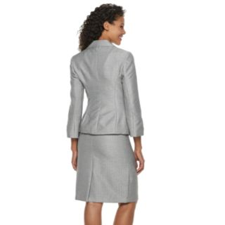 Women's Le Suit Notch Collar Tweed Skirt Suit