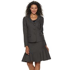 Women's Le Suit Flounce Hem Skirt Suit