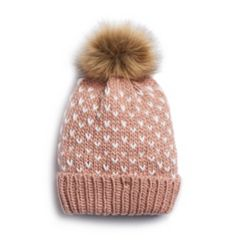 Women's LC Lauren Conrad Birds Eye Knit Pom Pom Beanie