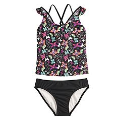 Girls 7-16 SO® Fly High Butterfly Tankini Top & Bottoms Swimsuit Set