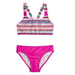 Girls 7-16 SO® Desert Explorer Bikini Top & Bottoms Swimsuit Set