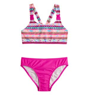Girls 7-16 SO® Desert Explorer Bikini Top & Bottoms Swimsuit Set