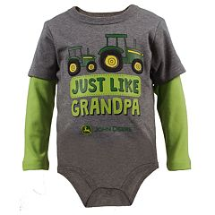 Baby Boy John Deere 'Just Like Grandpa' Mock-Layered Bodysuit