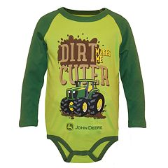 Baby Boy John Deere 'Dirt Makes Me Cuter' Bodysuit